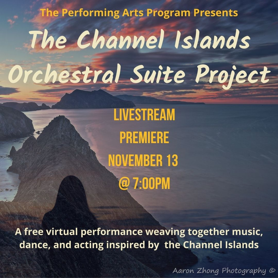 Livestream premiere of the Channel Islands Orchestral Suite Project on November 13 at 7pm